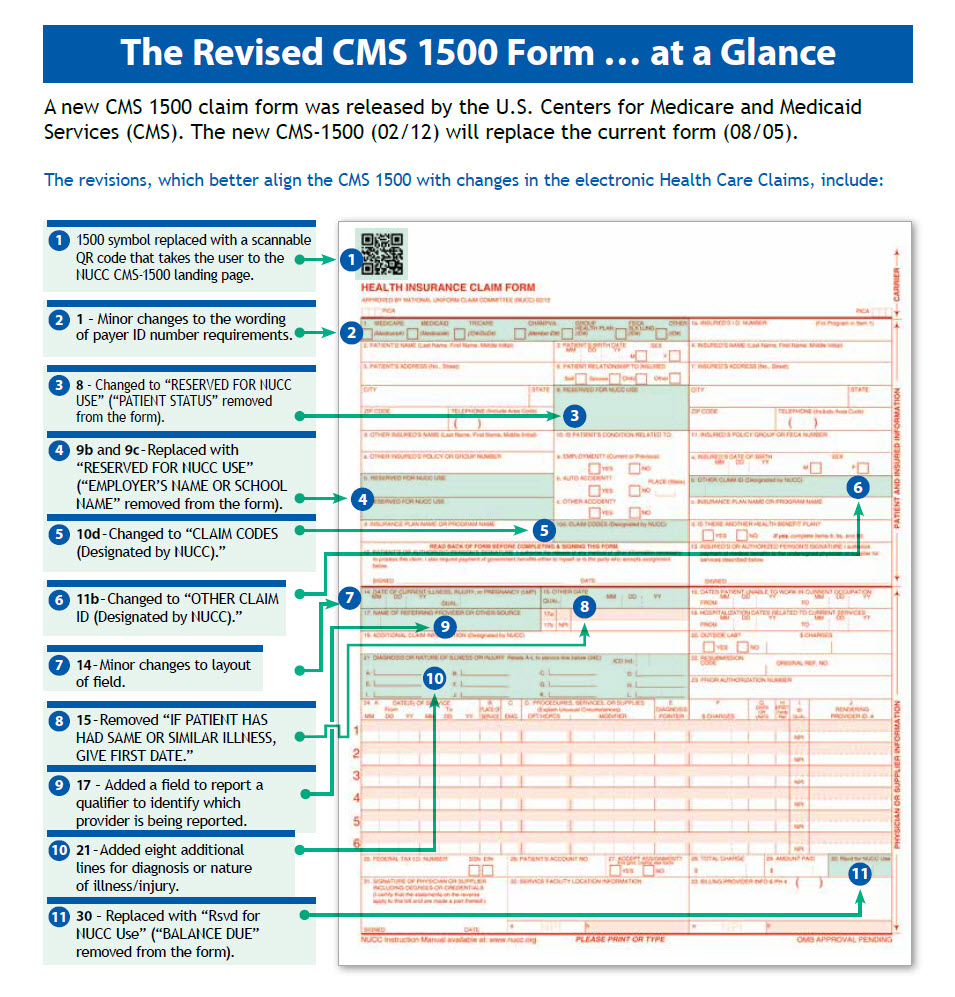 Cms 1500 Claim Form Requirements