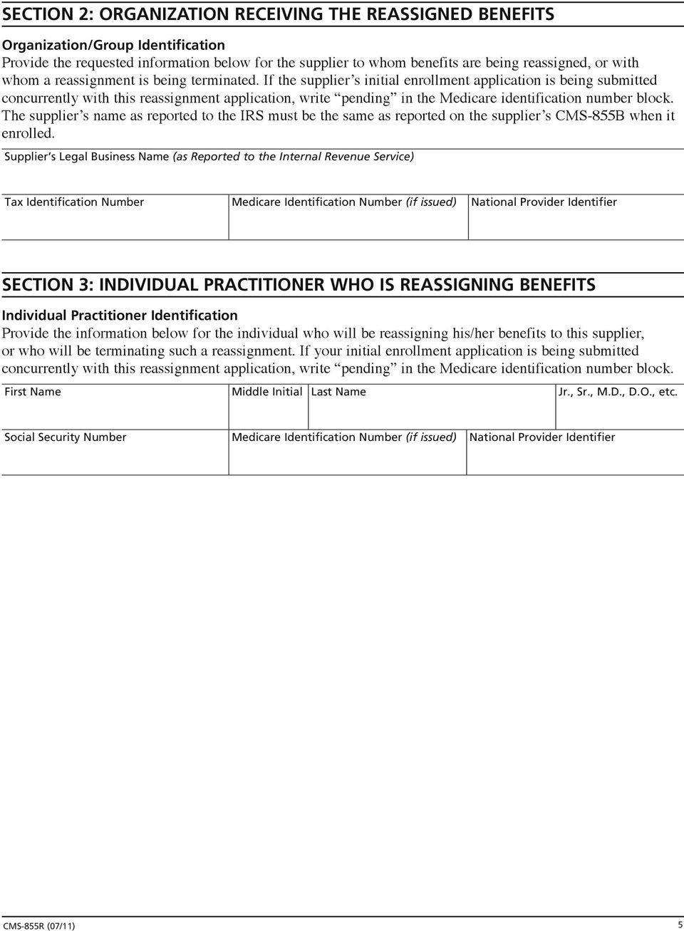 Cms Provider Enrollment Form 855r