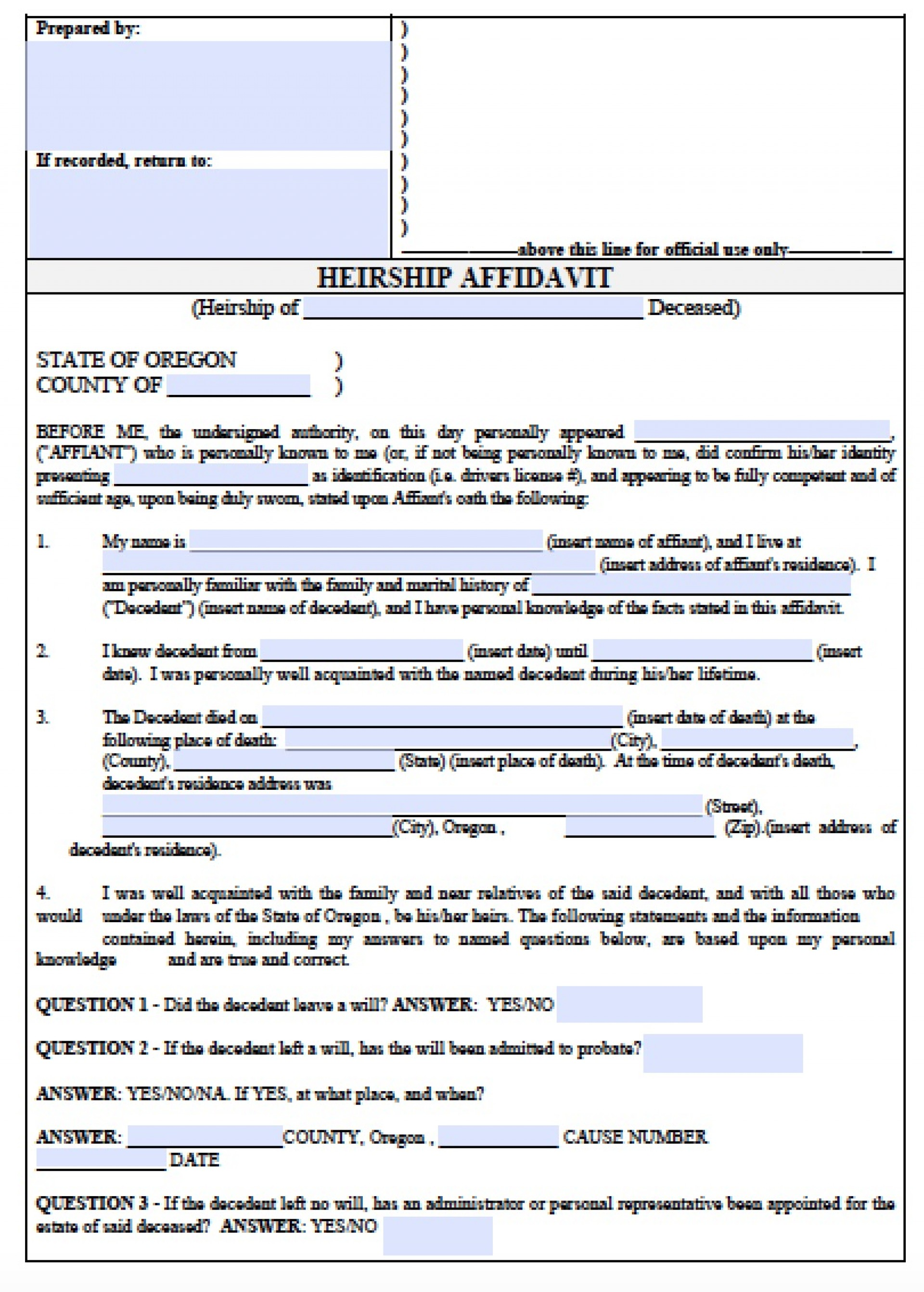 Co Petitioner Divorce Forms Oregon