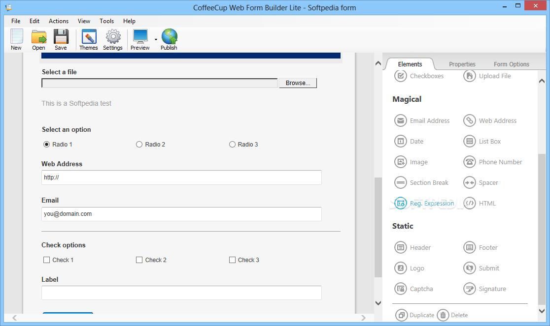Coffee Cup Web Form Builder Alternative