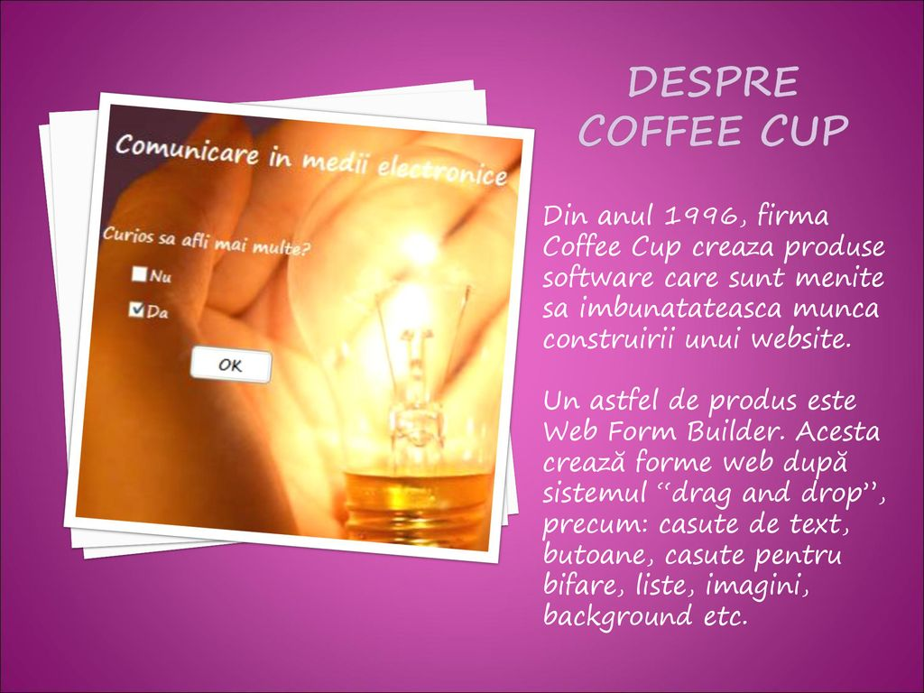 Coffee Cup Web Form Builder Download