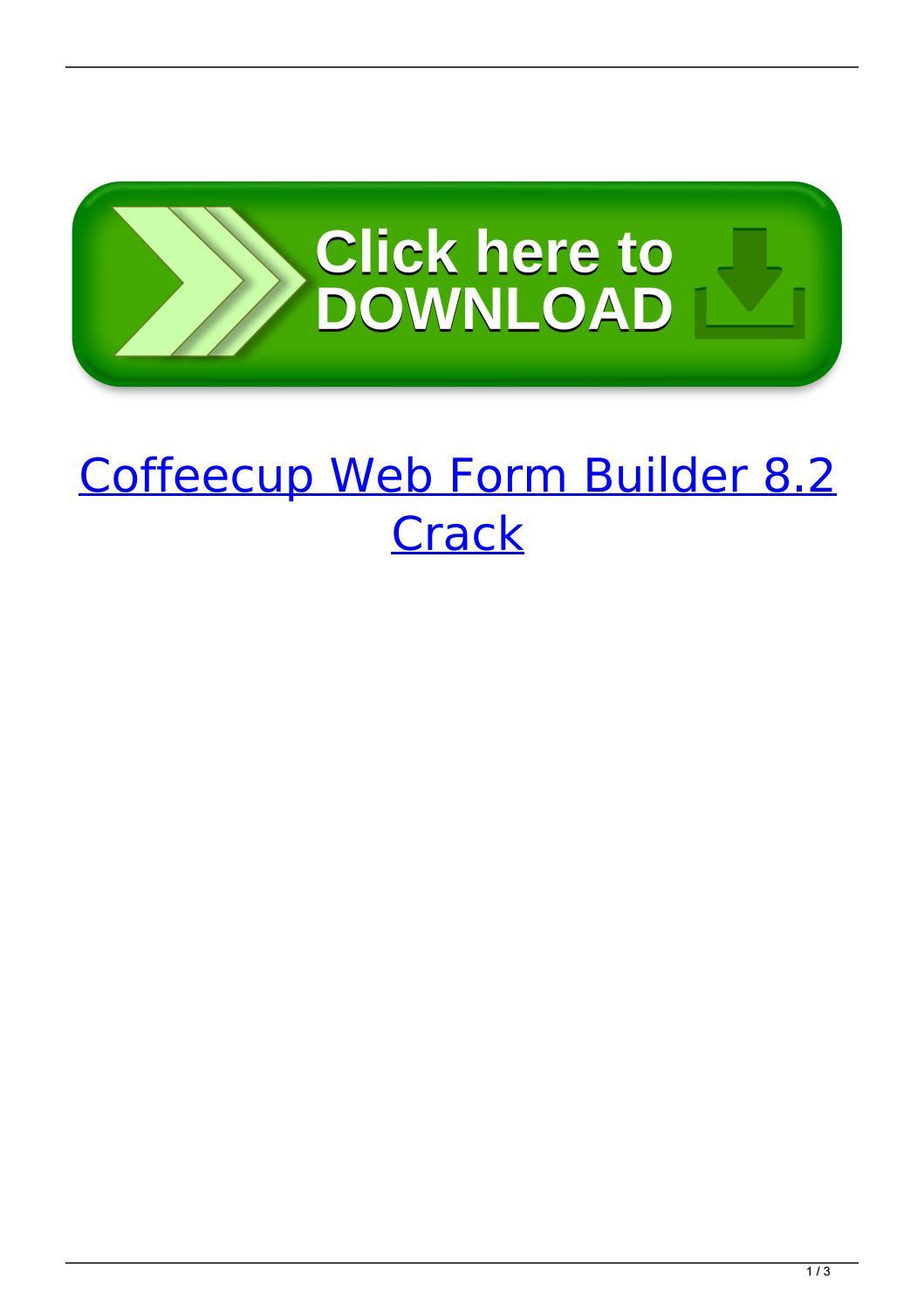 Coffeecup Web Form Builder Lite 2.5 Crack