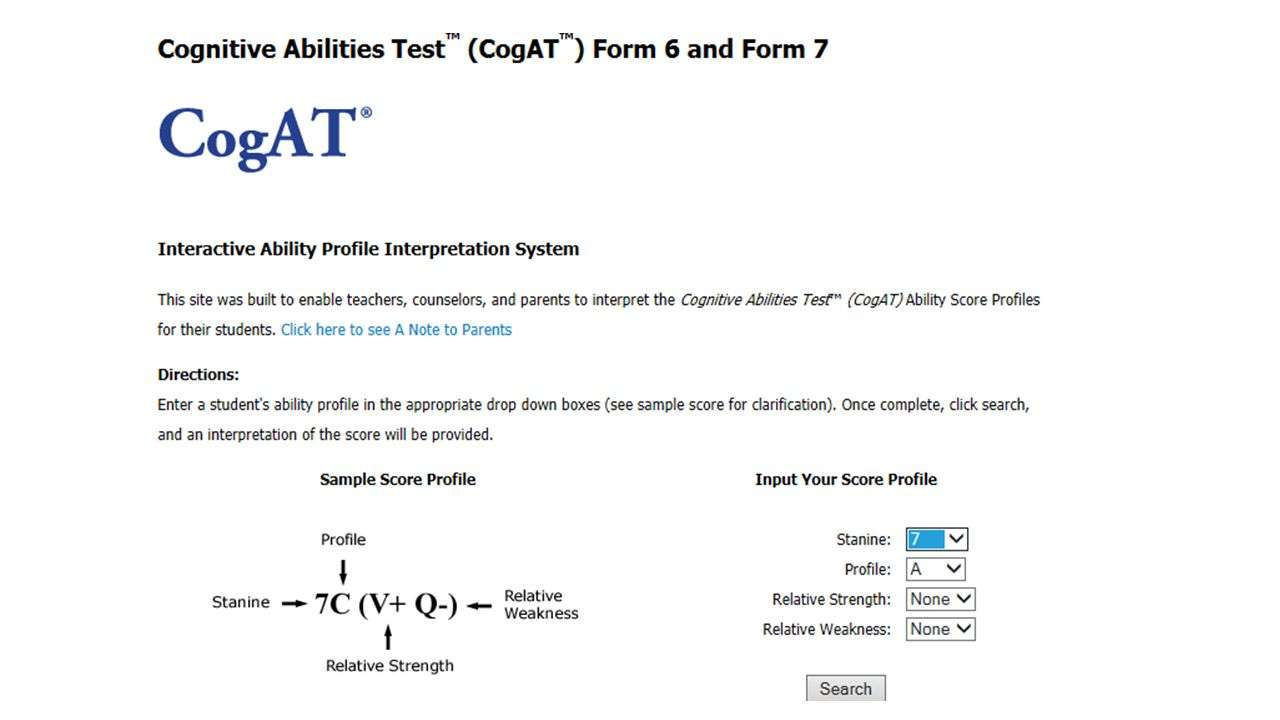 Cogat Form 6 Sample Questions