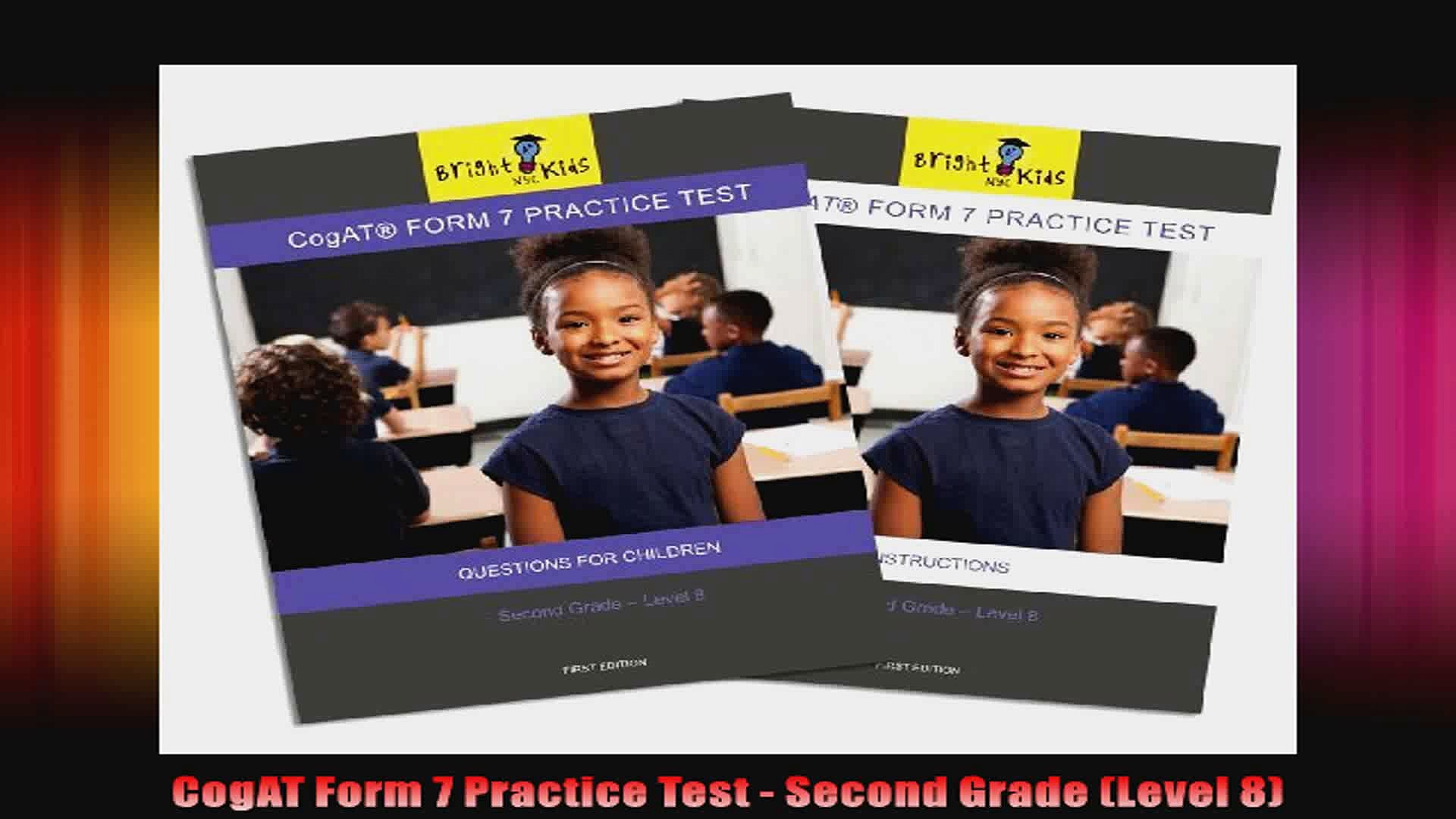 Cogat Form 7 Practice Test Second Grade (level 8)