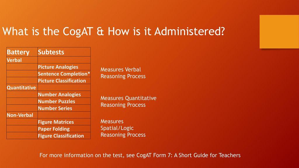 Cogat Form 7 Screening Test
