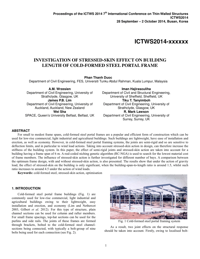Cold Formed Steel Channel Properties