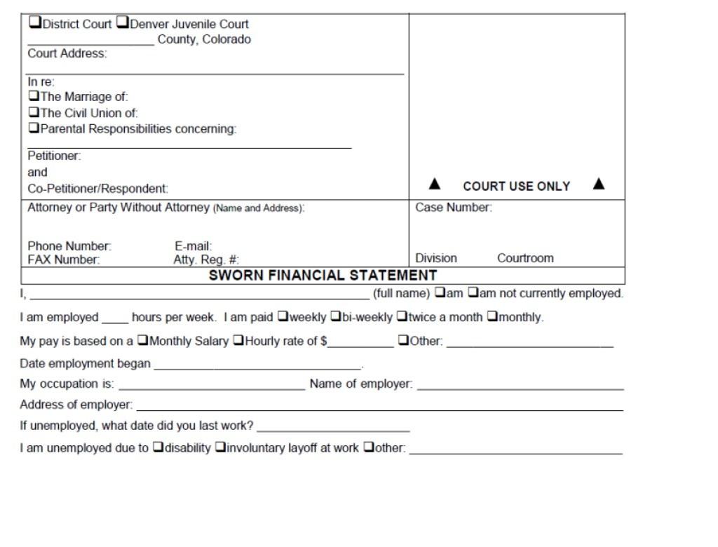 Colorado Springs Divorce Filing Fees
