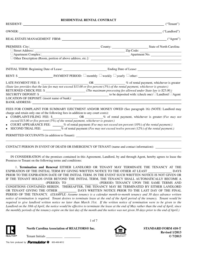 Commercial Lease Application Form California