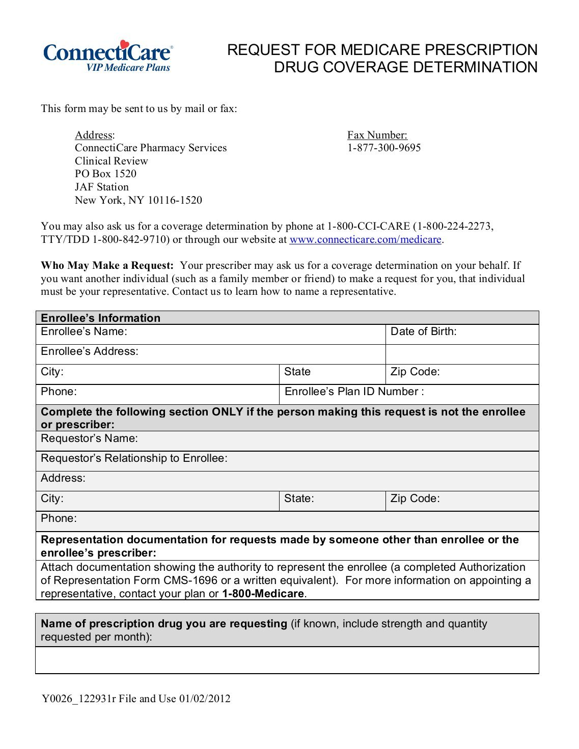 Connecticare Medicare Pa Forms