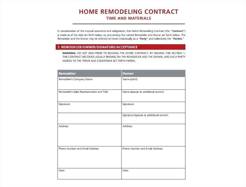 Connecticut Home Improvement Contract Form