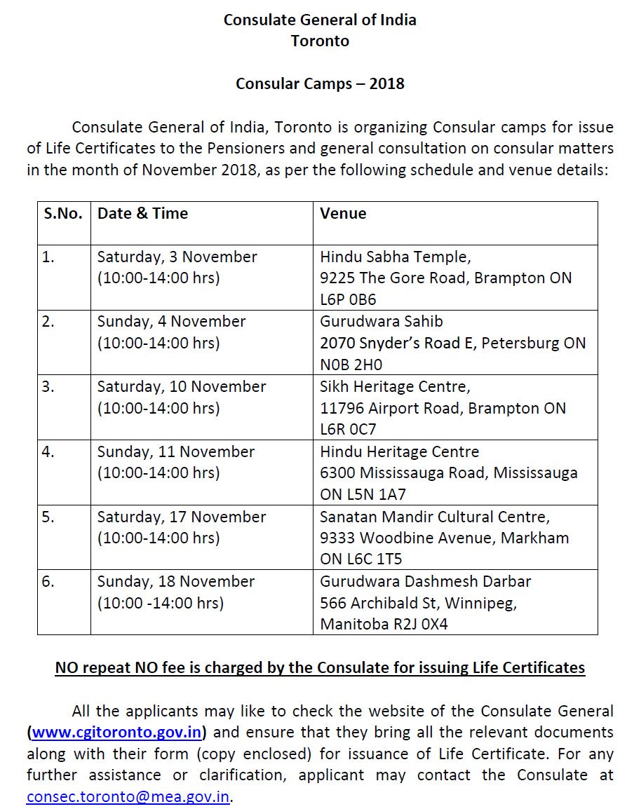 Consulate General Of India Visa Application Form Toronto