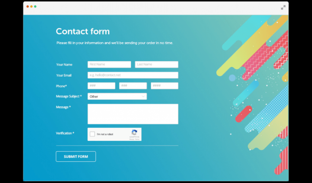 Contact Form Css Generator