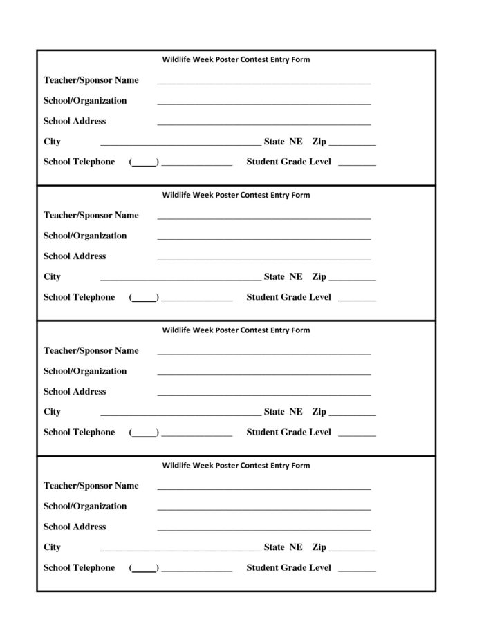 Contest Boxes And Entry Forms