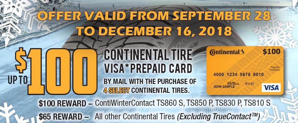 Continental Tire Rebate Form 2018