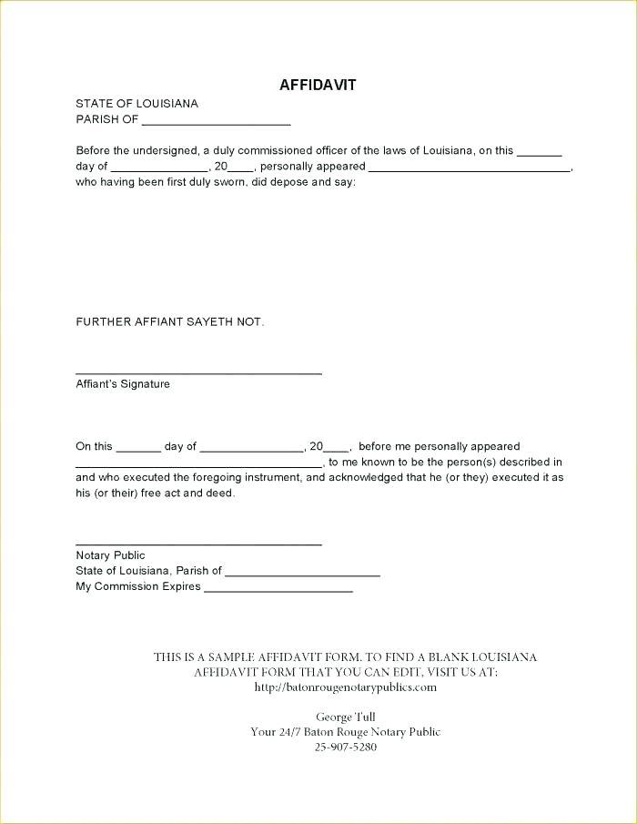 Contractor Affidavit Form Florida