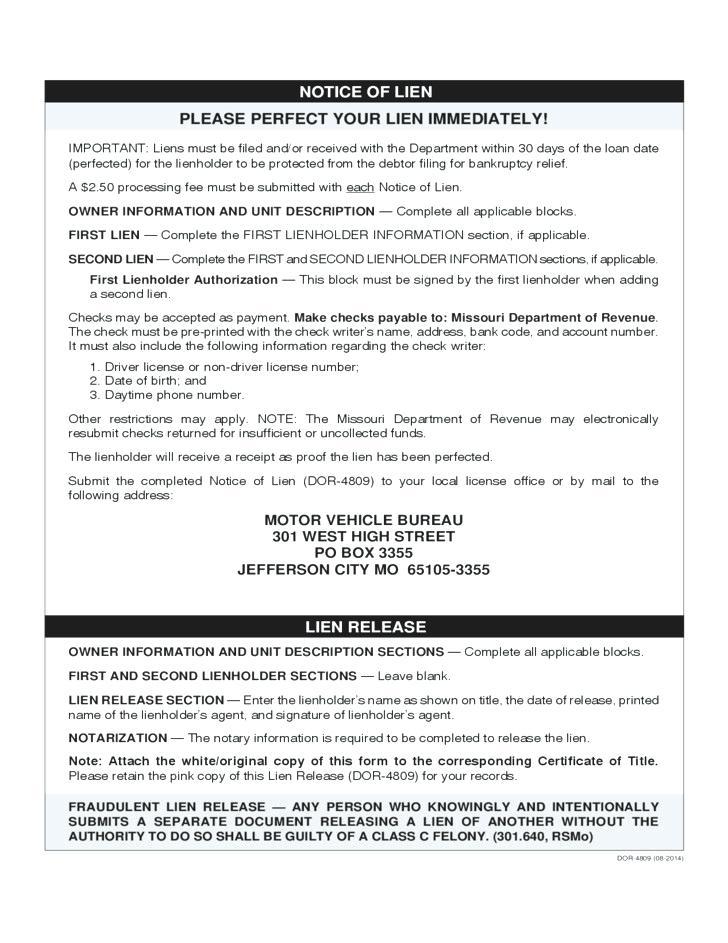 Contractor Lien Release Form Pdf