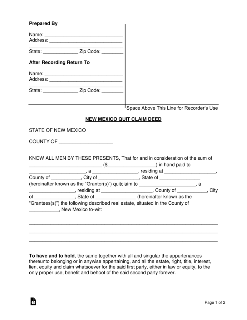 Correction Deed Form Colorado