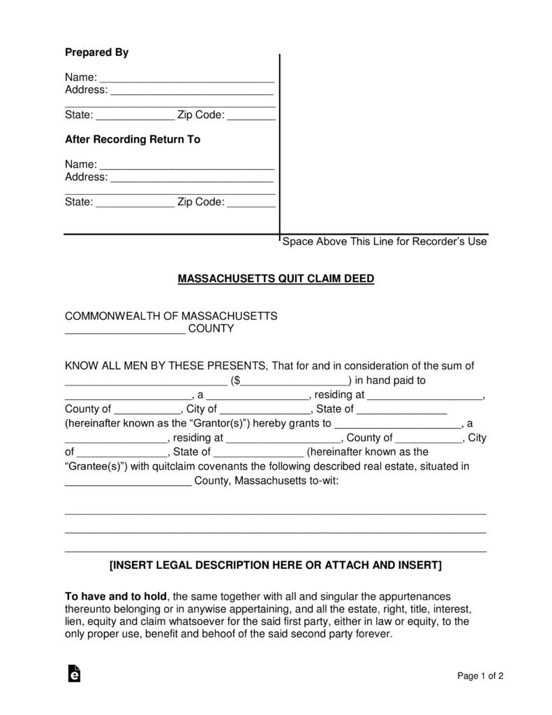 Correction Deed Form Washington State
