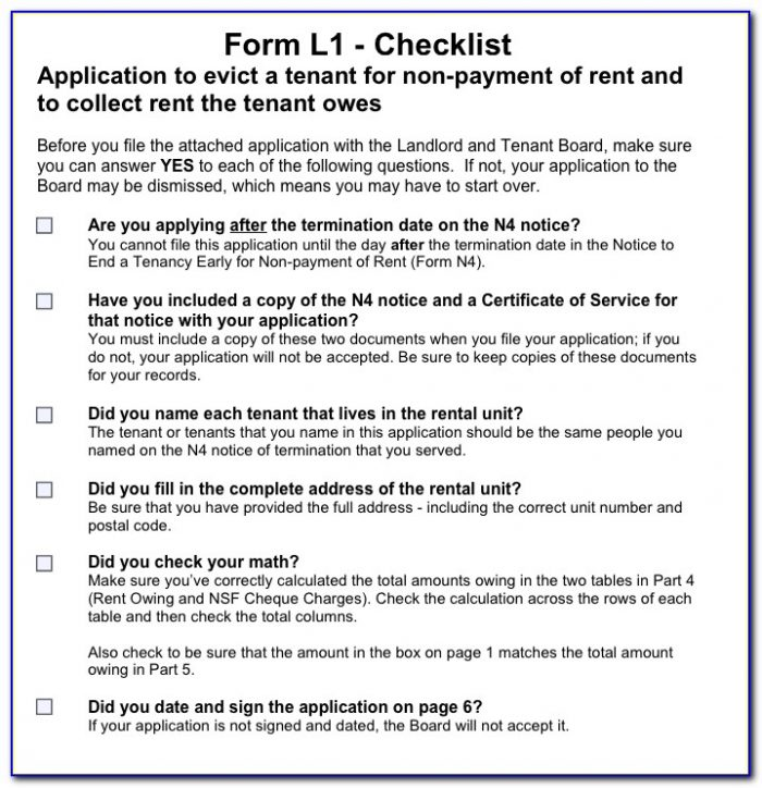 Court Form To Evict Tenant
