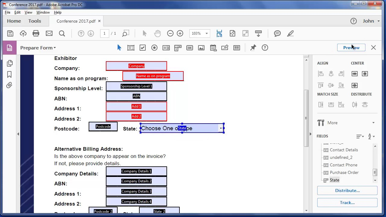 Create A Fillable Pdf Form From A Excel Document