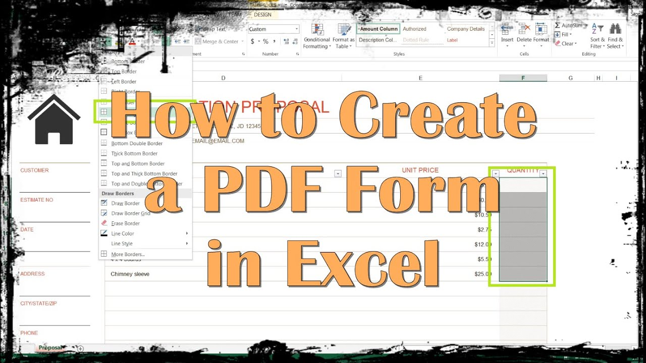 Create A Pdf Fillable Form From Excel
