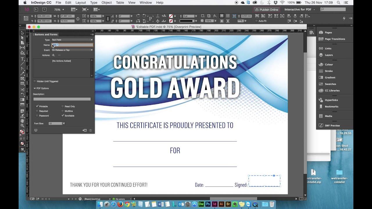 Create Editable Pdf Form Indesign