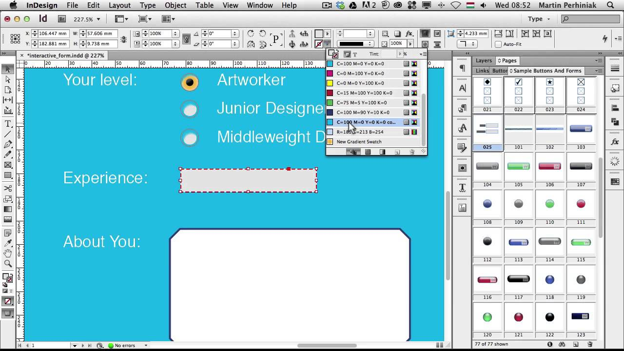 Create Fillable Form Pdf From Indesign