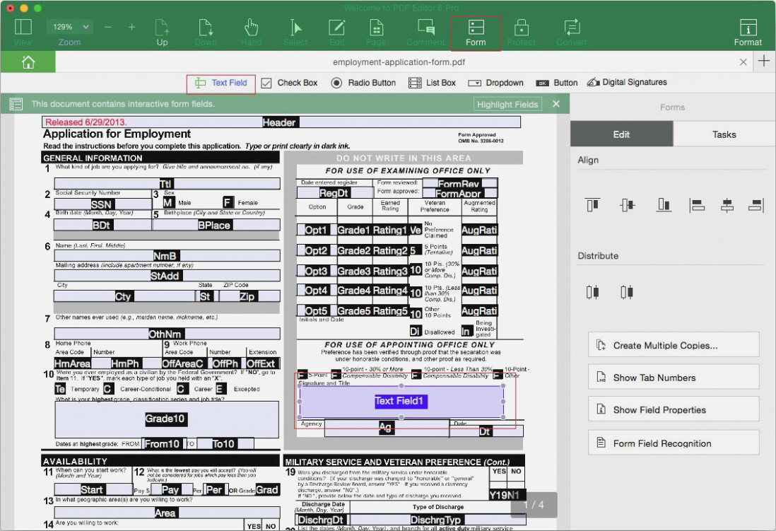 Create Fillable Form Pdf Mac