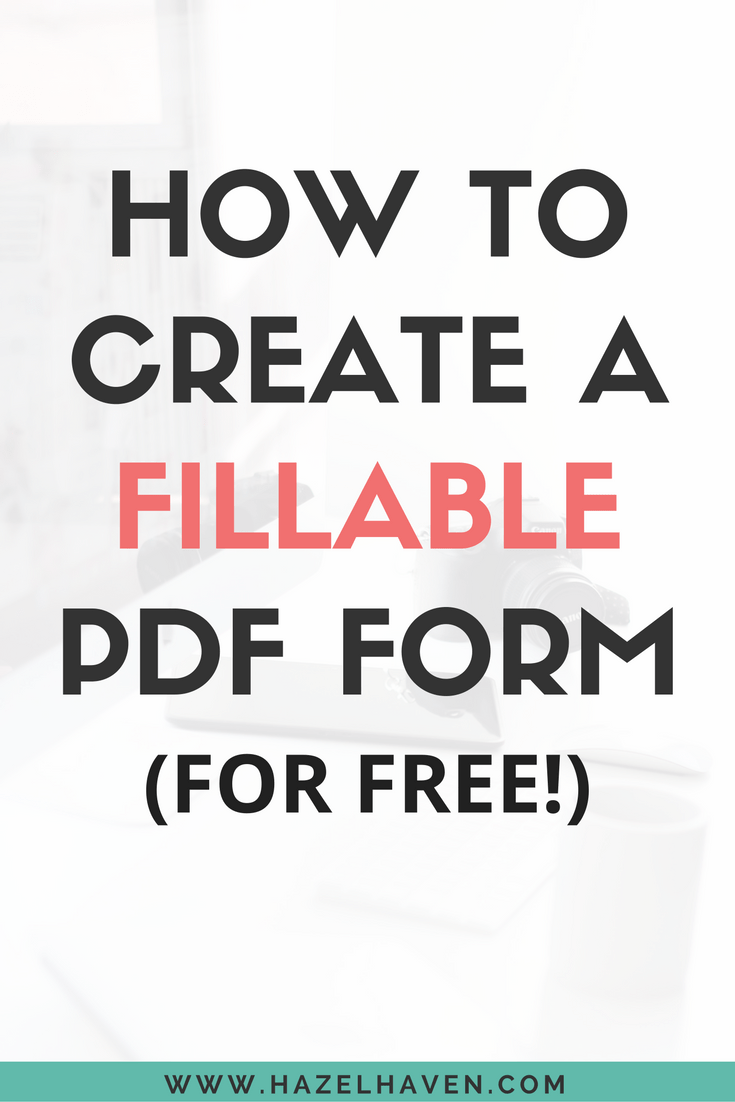 Create Fillable Pdf Form Online