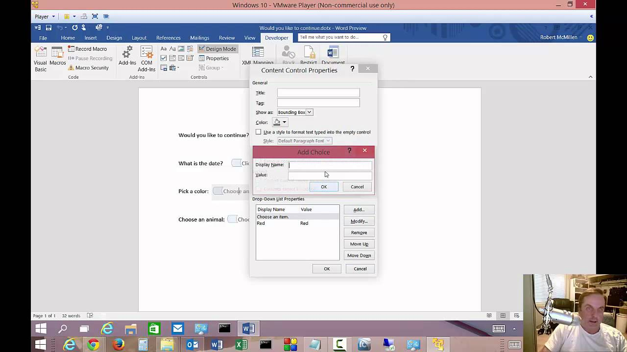 Creating A Fillable Form In Ms Word