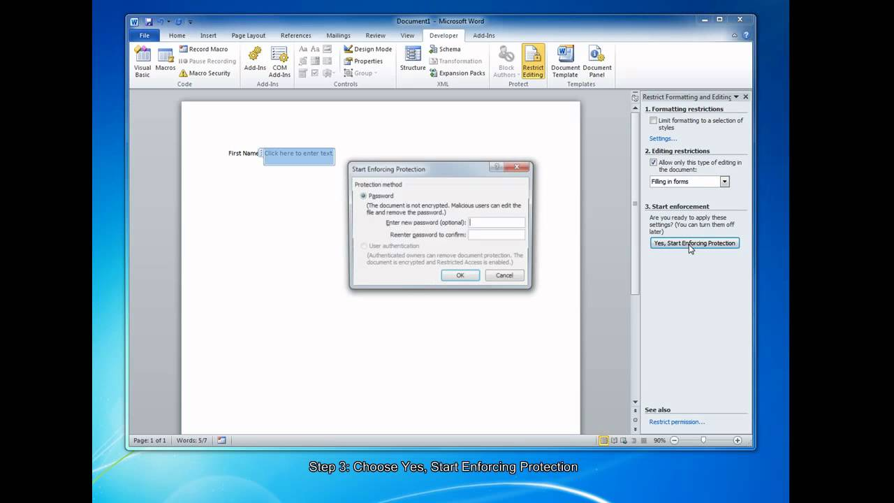 Creating A Fillable Pdf Form In Word 2010