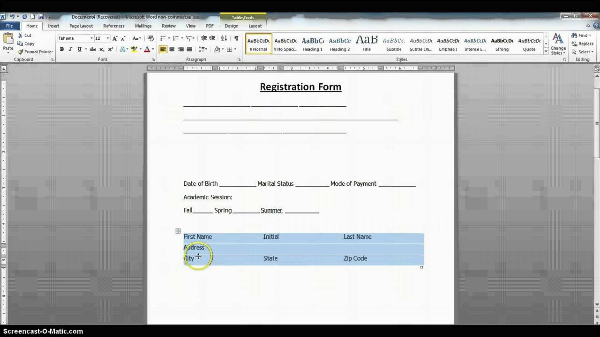 Create Pdf Fillable Form From Word New Creating Forms In Word Form Awesome Templates Adding Professional