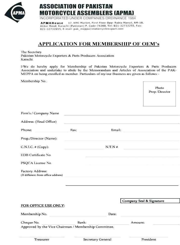 Cricket Club Registration Form Template Word