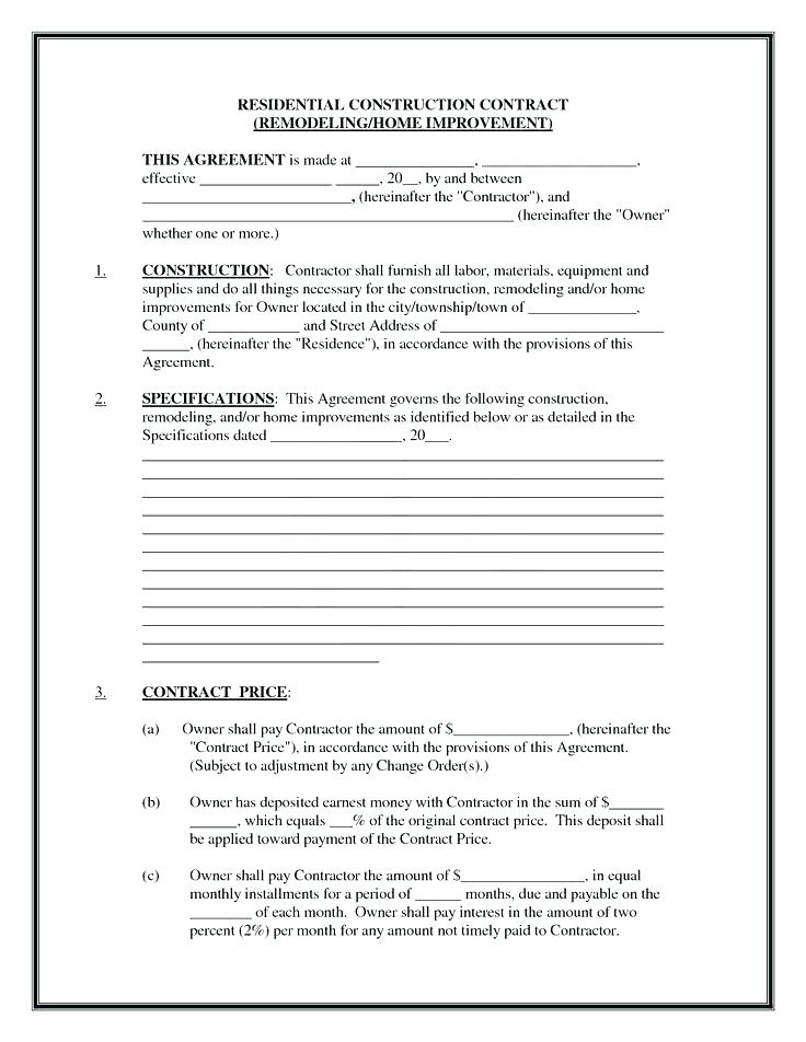 Cslb Home Improvement Contract Form