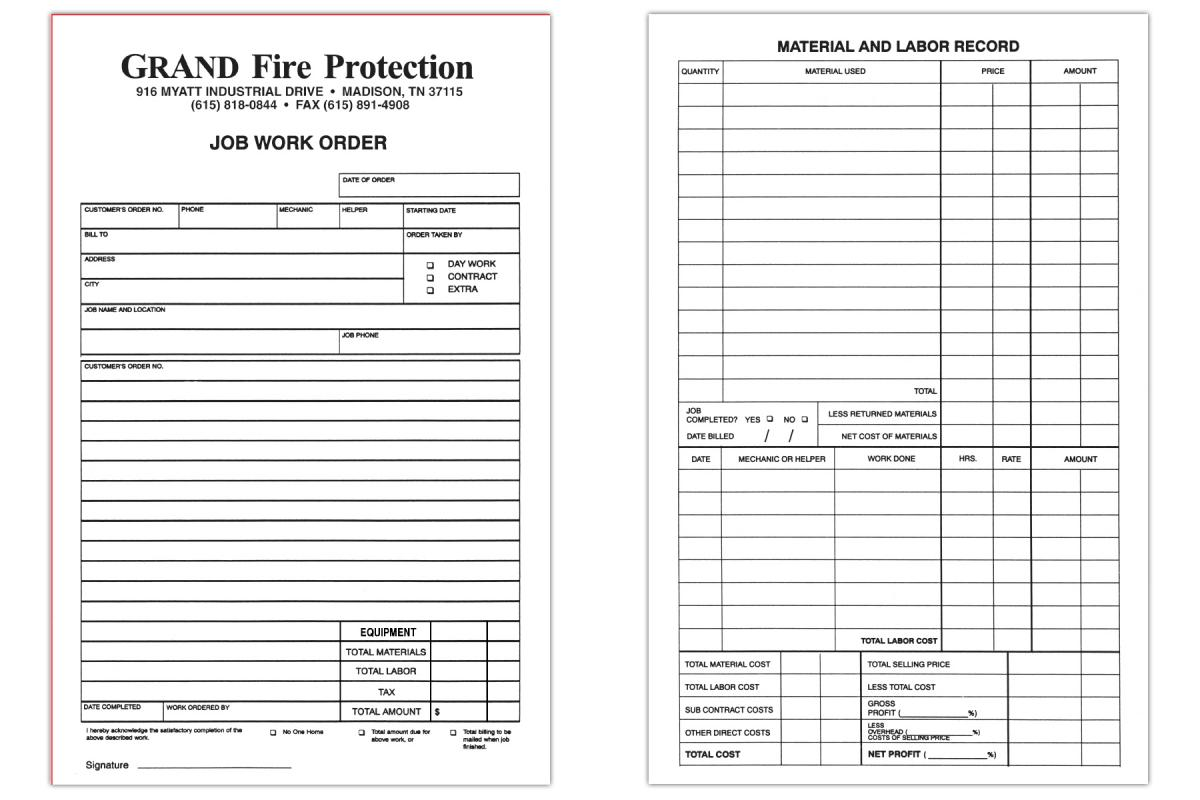 Custom Printed Carbonless Forms