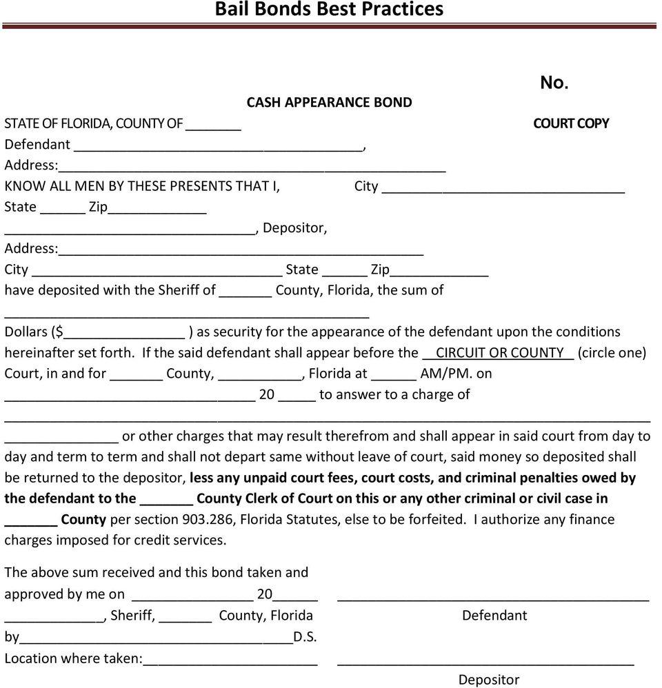 Dallas County Bail Bond Forms