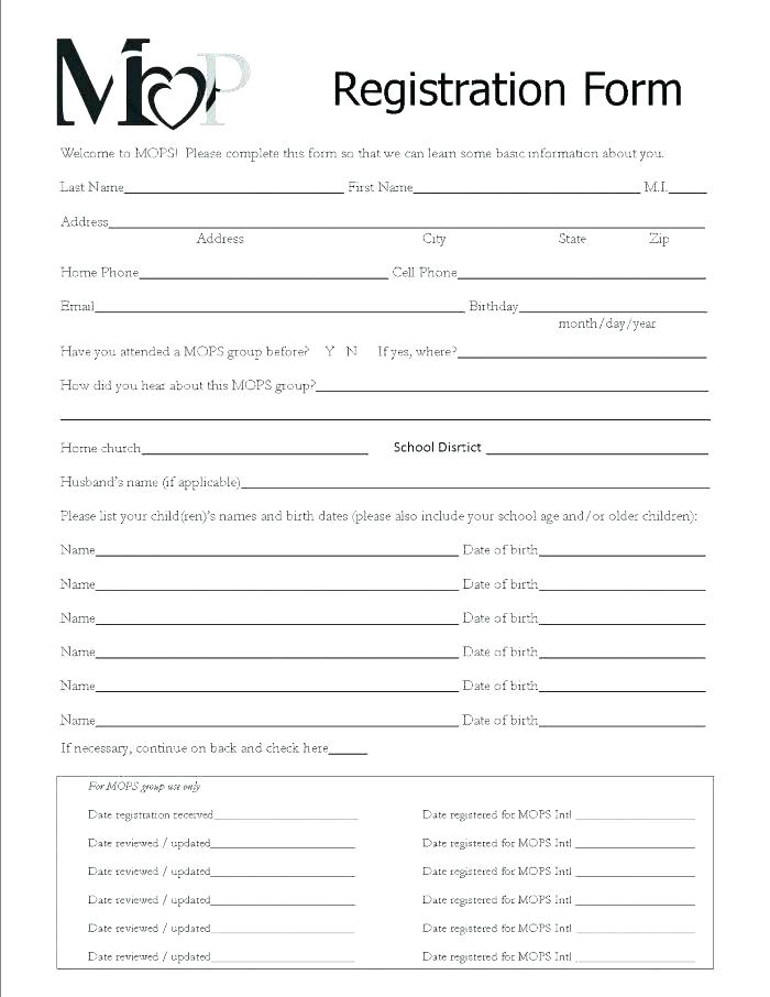 Daycare Application Form For Parents