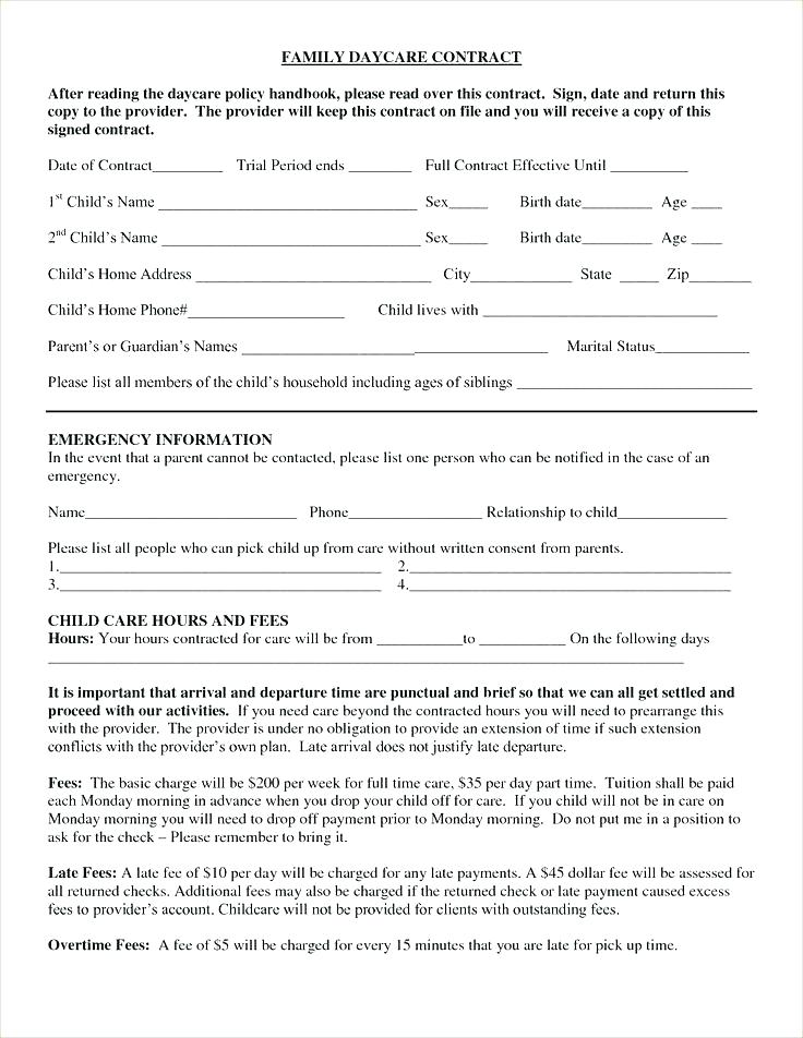 Daycare Enrolment Forms