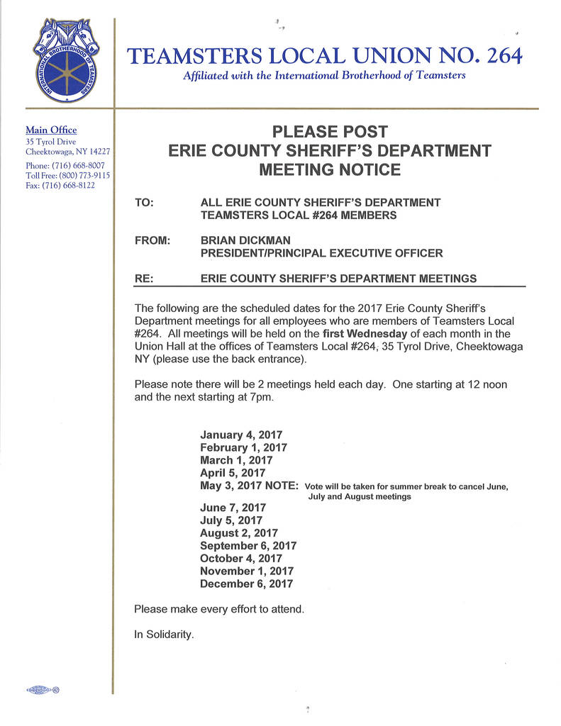 Dba Form Erie County Ny Elegant Teamsters Local 264 Erie County Sheriff S