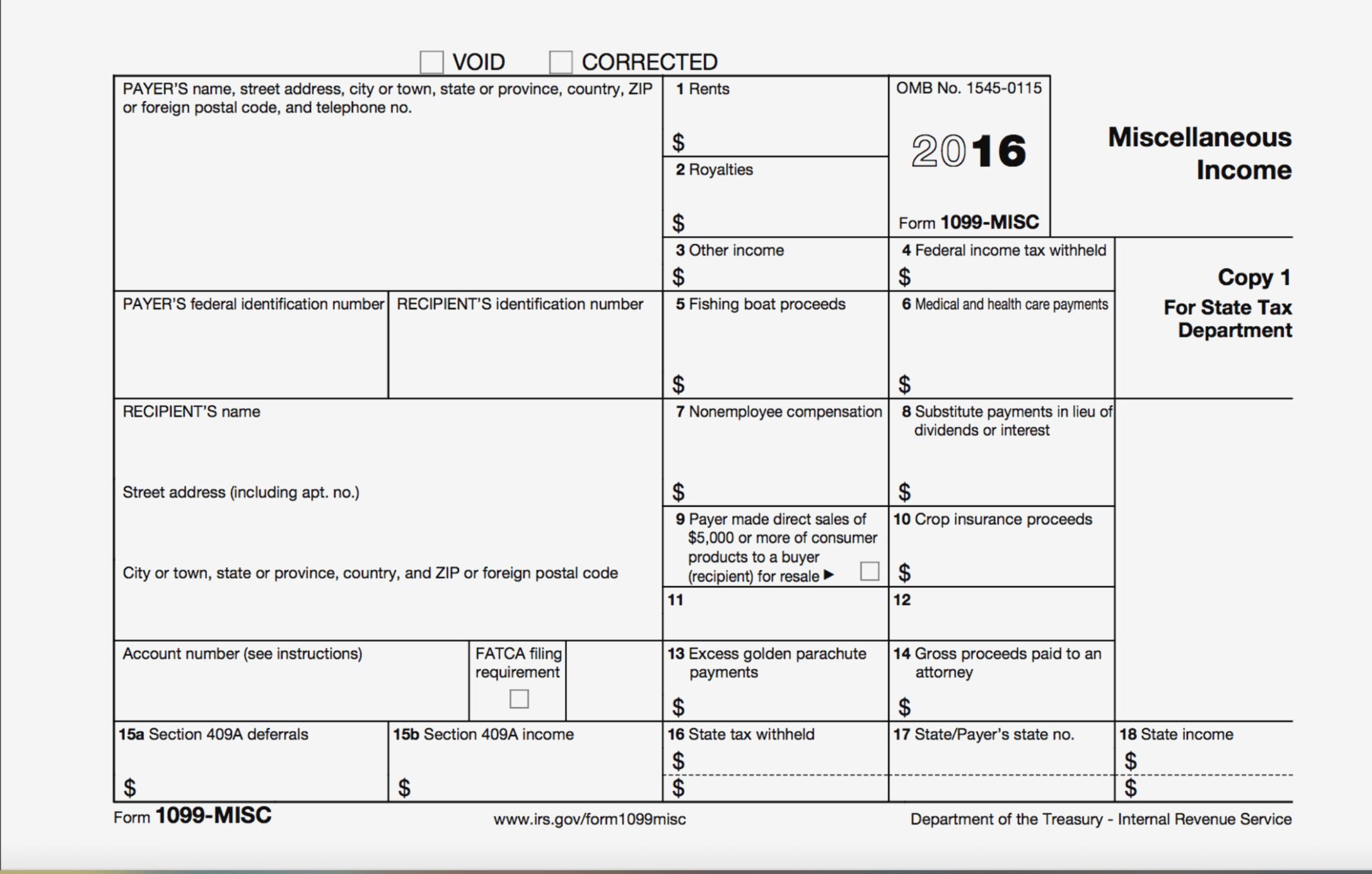 Deadline For Filing 1099 Misc Forms