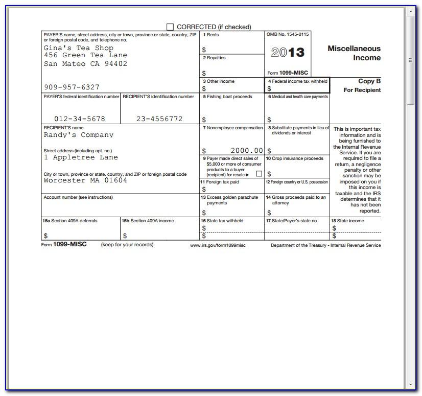 Deadline To File Form 1099 Misc