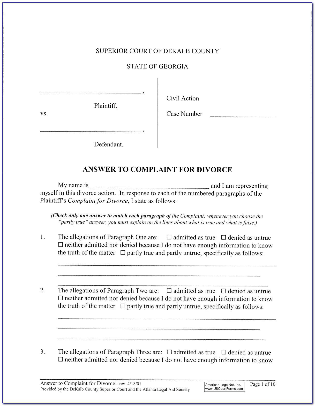 Dekalb County Court Forms