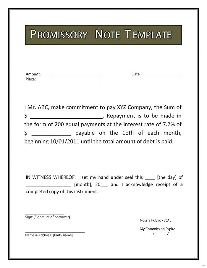 Demand Promissory Note Format In Letter Tuition Fee ? Threestrands Secured Promissory Note Template Word