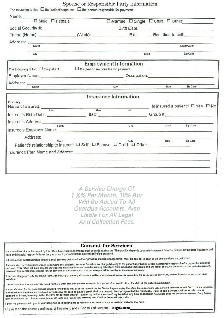 Dental Laser Treatment Consent Form