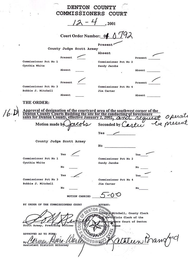 Denton County Divorce Filing Records