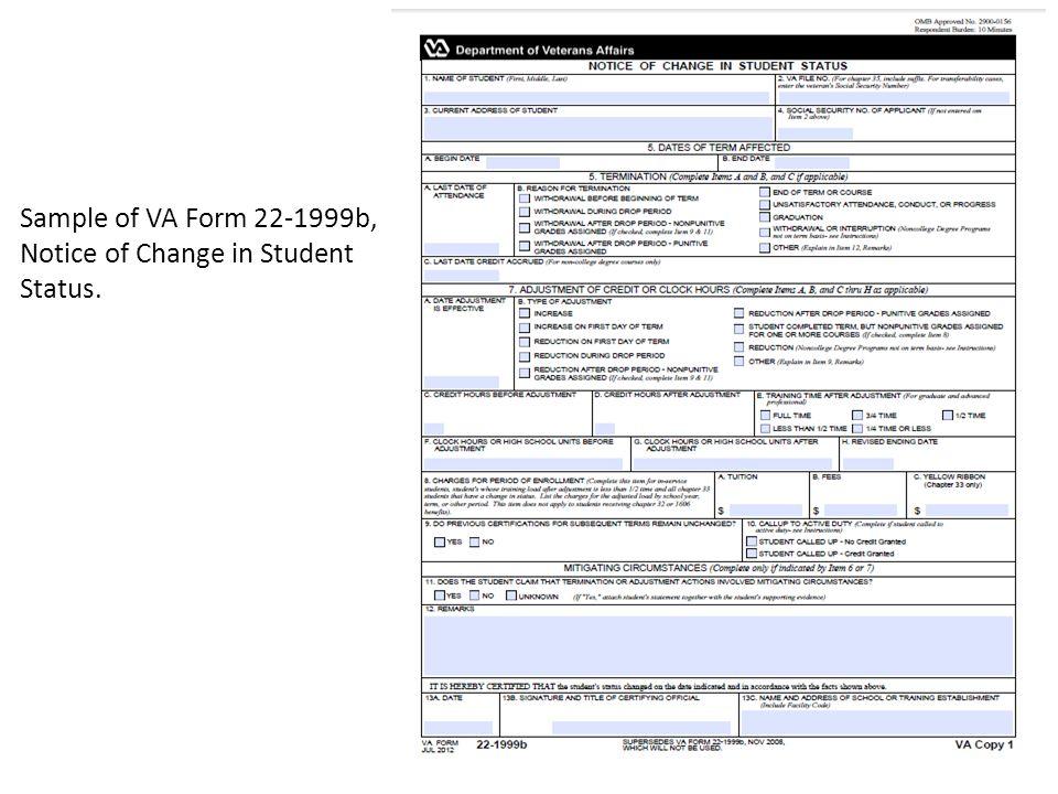 Department Of Veterans Affairs Form 22 6553d 1