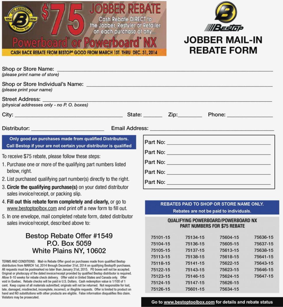 Discount Tire Rebate Form Online