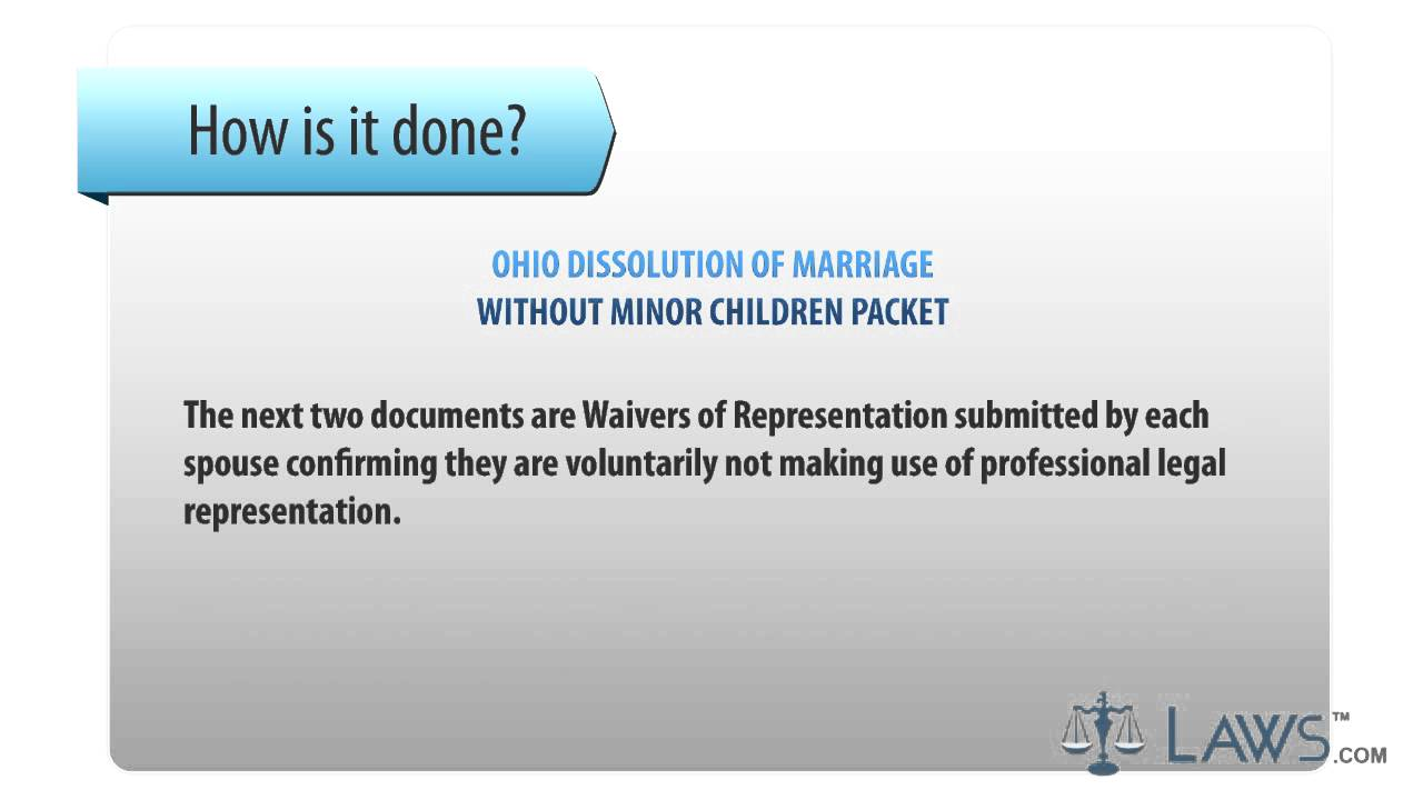 Dissolution Of Marriage Packet Ohio
