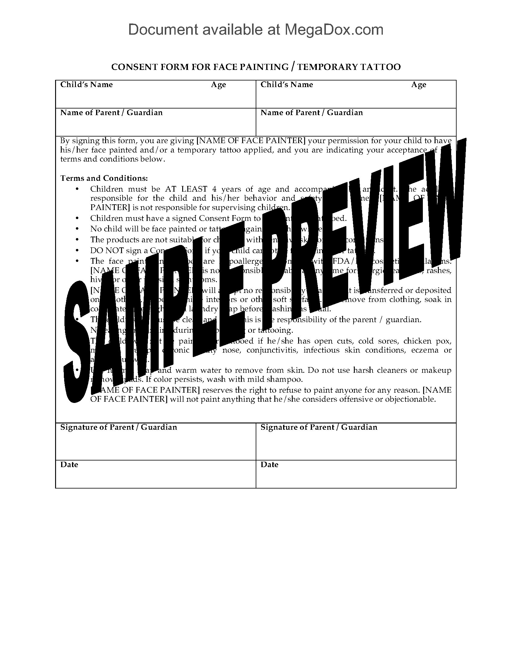 Divorce Appearance Consent And Waiver Form