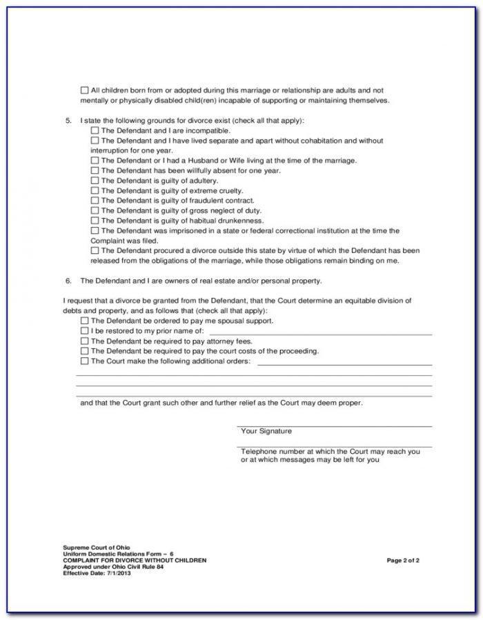 Divorce Forms Columbus Ohio